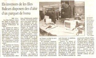 Invitado a la inauguración de GAESCO Bolsa Mallorca durante el boom bursátil de los 90s